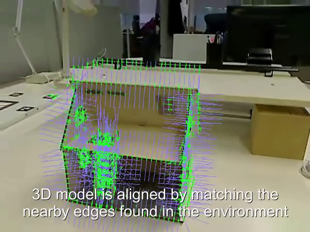 Real-time 3D model-based tracking using edges
