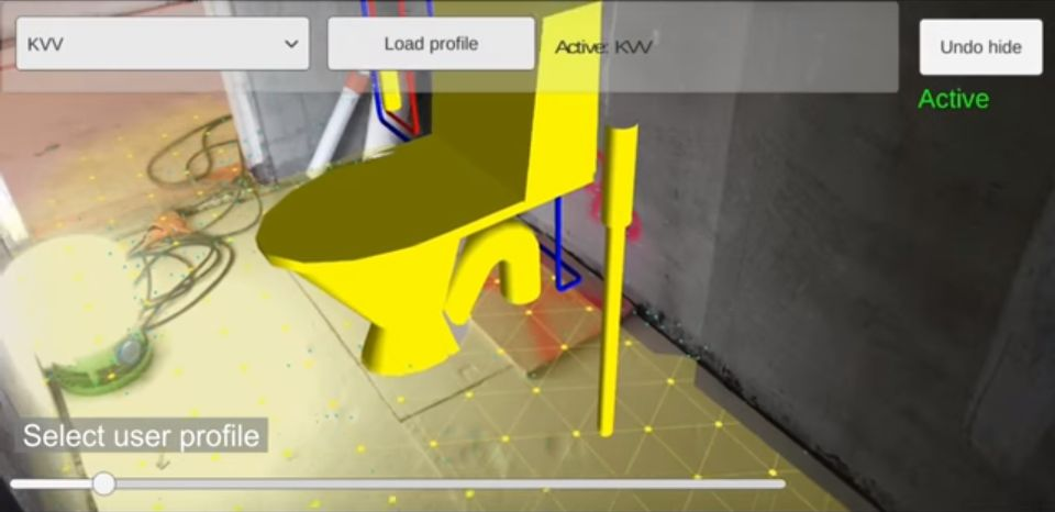 AR Visualization of Work Task Information at Renovation Site