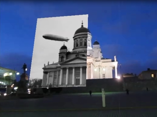 Augmented Reality Historical Photos in Helsinki